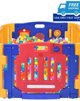 4 Panels Safety Baby Center Playpen