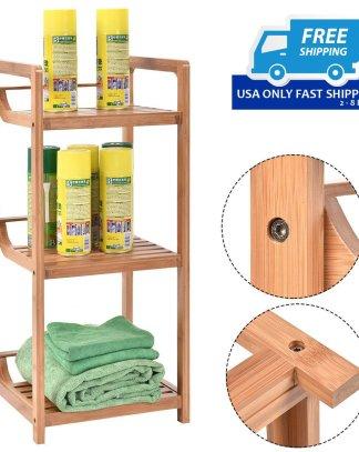 3-Tier Bamboo Bathroom Storage Rack