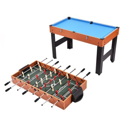 "48"" 3-In-1 Multi Combo Game Table Foosball Soccer Billiards Pool Hockey For Kids"