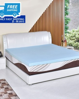 "3"" Gel Antimicrobial Memory Foam Mattress"