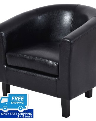 PU Leather Single Sofa Arm Chair with Cushion