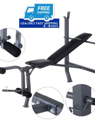 Goplus Adjustable Fitness Weight Lift Sit up Bench