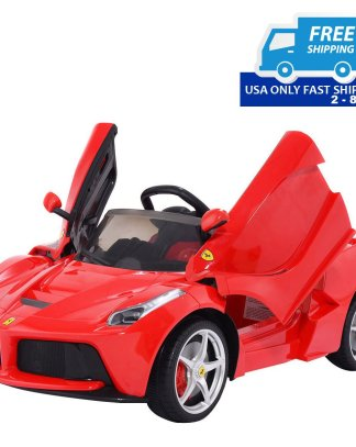 12 V LaFerrari Kids Ride on Car w/ RC + MP3 + LED Lights
