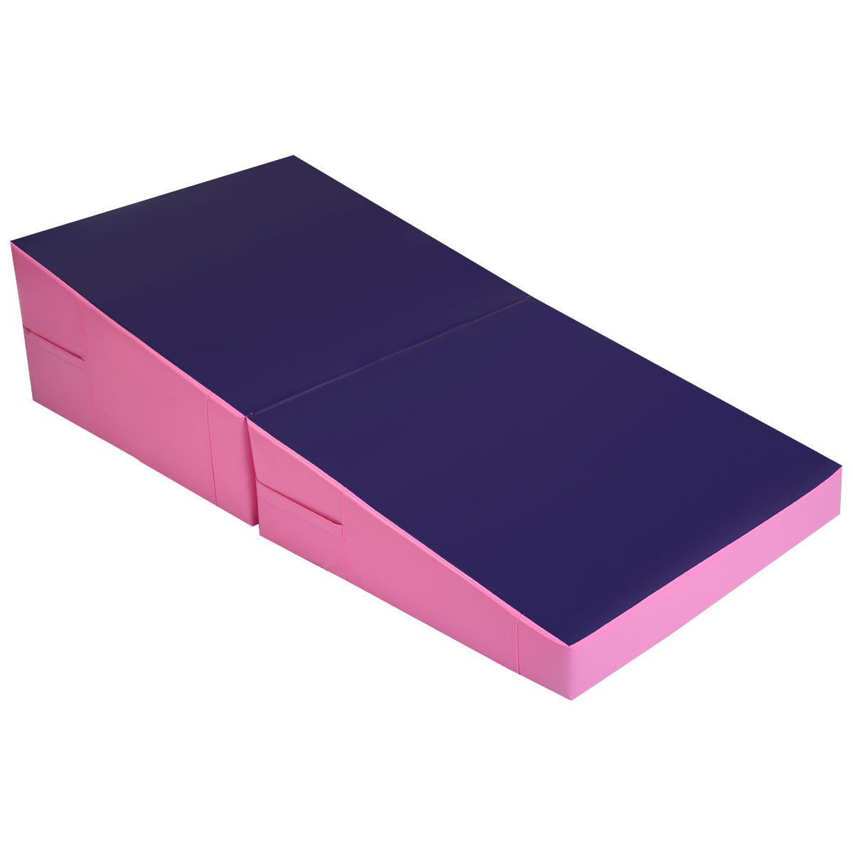 Pink Purple Folding Incline Mat Slope Cheese Gymnastics