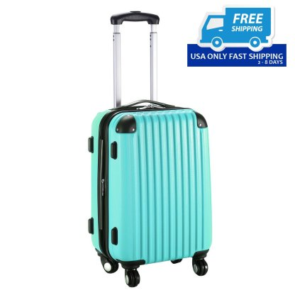"GLOBALWAY 20"" Expendable ABS Carry On Luggage Travel Bag Trolley Suitcase 8 color"