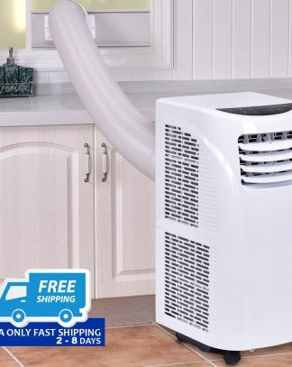 10000 BTU Portable Air Conditioner & Dehumidifier w/ Window Kit