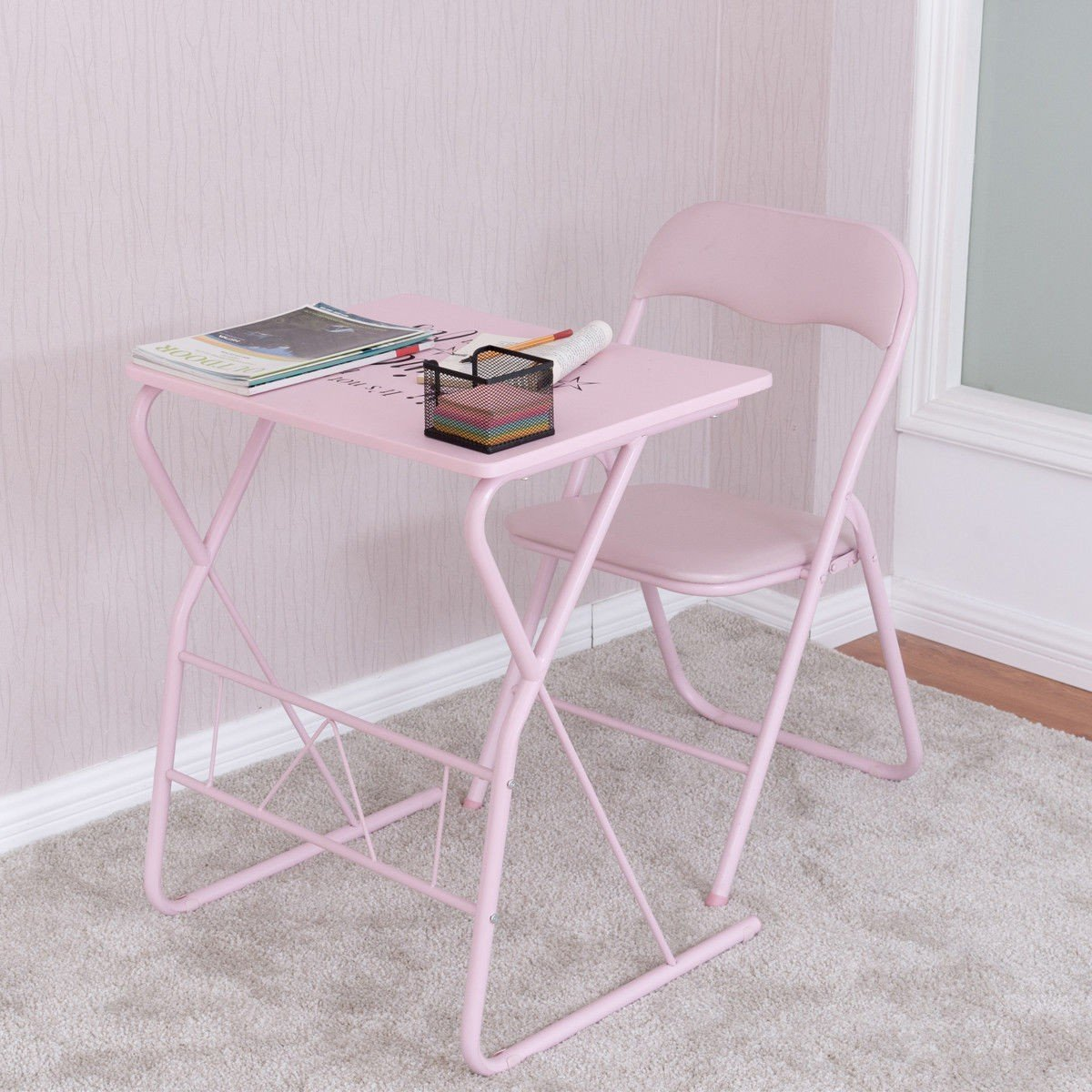 Student Folding Study Writing Chair Table Set By Choice
