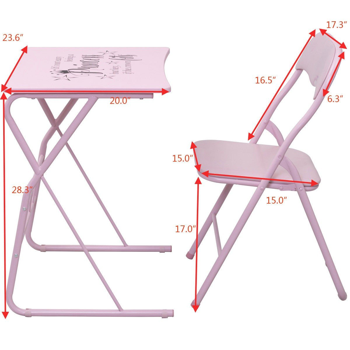 Student Folding Study Writing Chair Table Set  sc 1 st  By Choice Products & Student Folding Study Writing Chair Table Set \u2013 By Choice Products