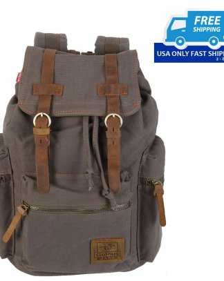 Vintage Retro Canvas Sport Backpack Rucksack Satchel Travel Hiking School Bag