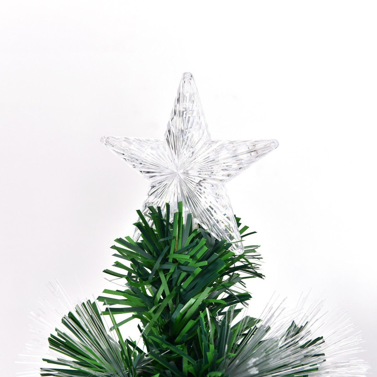 4′ / 5′ / 6′ / 7′ Fiber Artificial Christmas Tree w/ Multi-color ...