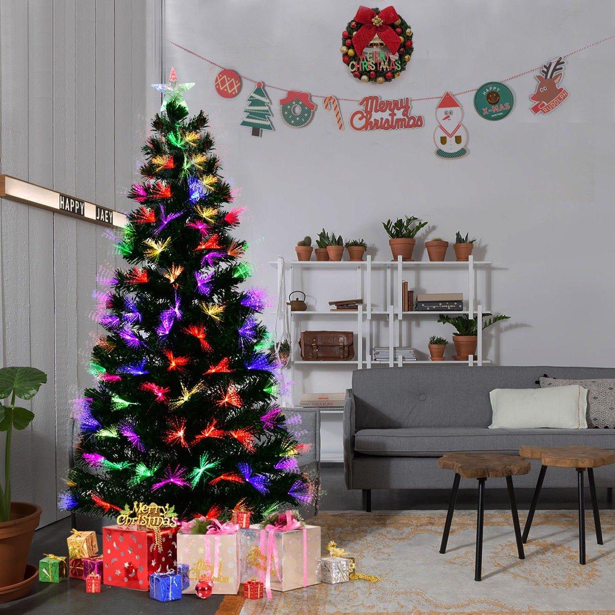 7 5 Fiber Optic Christmas Tree: 5′ / 6′ / 7′ Fiber Optic Artificial Christmas Tree W