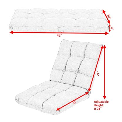 14-Position Adjustable Cushioned Floor Gaming Sofa Chair