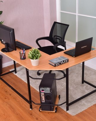 Home Office L-Shaped Corner Study Computer Desk