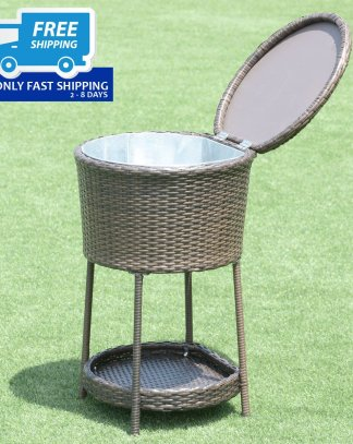 Outdoor Patio Rattan Bar Wine Ice Cooler