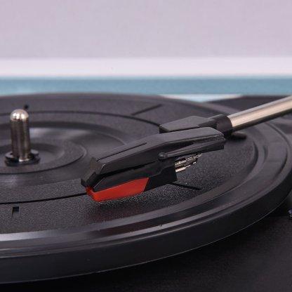 Blue Vintage Vinyl Record Player