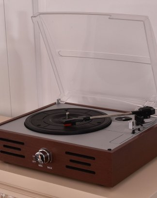Brown Vintage Vinyl Record Player