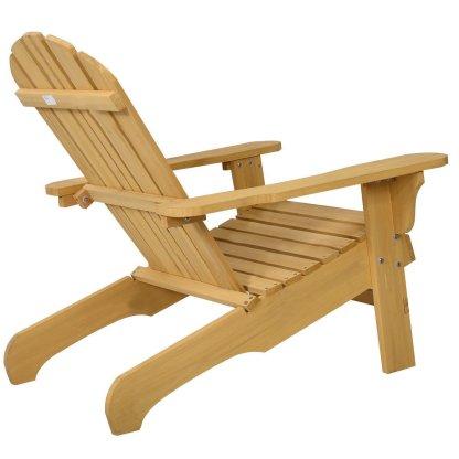 Outdoor Natural Fir Wood Adirondack Chair