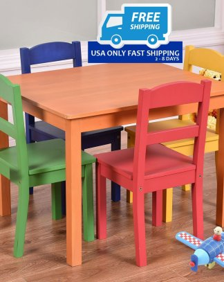 5 Pieces Kids Table Chair Set