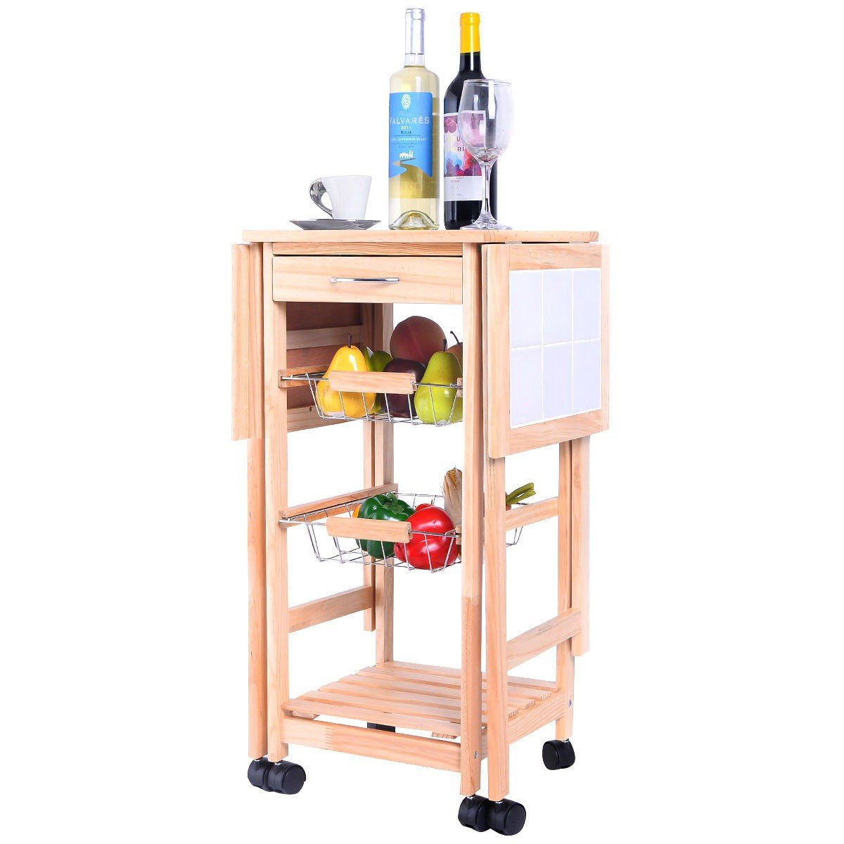 3-Tier Rolling Kitchen Trolley Cart – By Choice Products