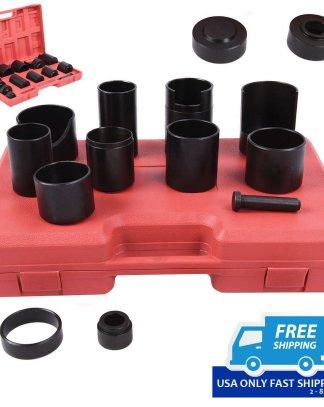 14 Pc Master Ball Joint Remover Installer Adaptors Kit Receiving Tube