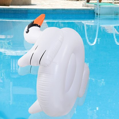 Inflatable Leisure Giant Swan Float Toy Rideable Raft Swimming Pool Celebrity