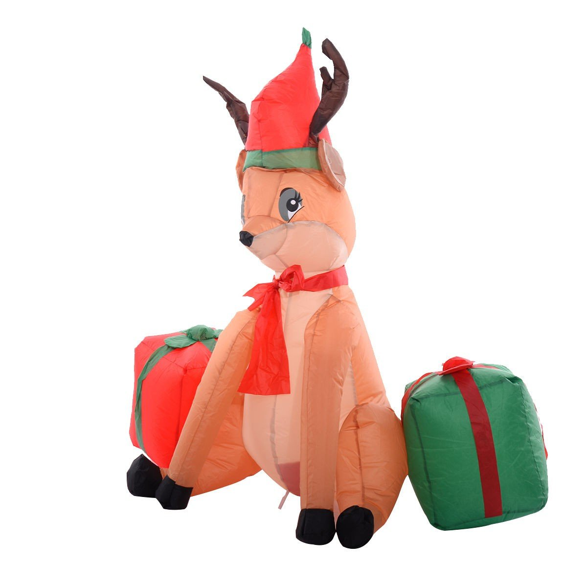 4 Ft Inflatable Christmas Xmas Reindeer Gift Box Decoration