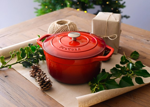 ProCook Cast iron Casserole - red