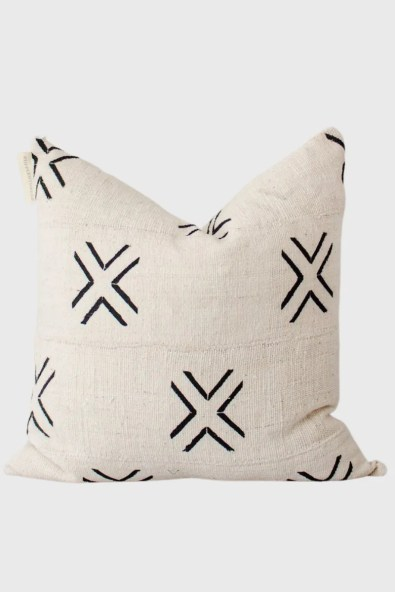 TANA-Authentic Mali Mudcloth Throw Pillow Cover