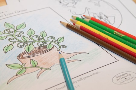 Coloring pages to go along with the Unwrapping the Greatest Gift