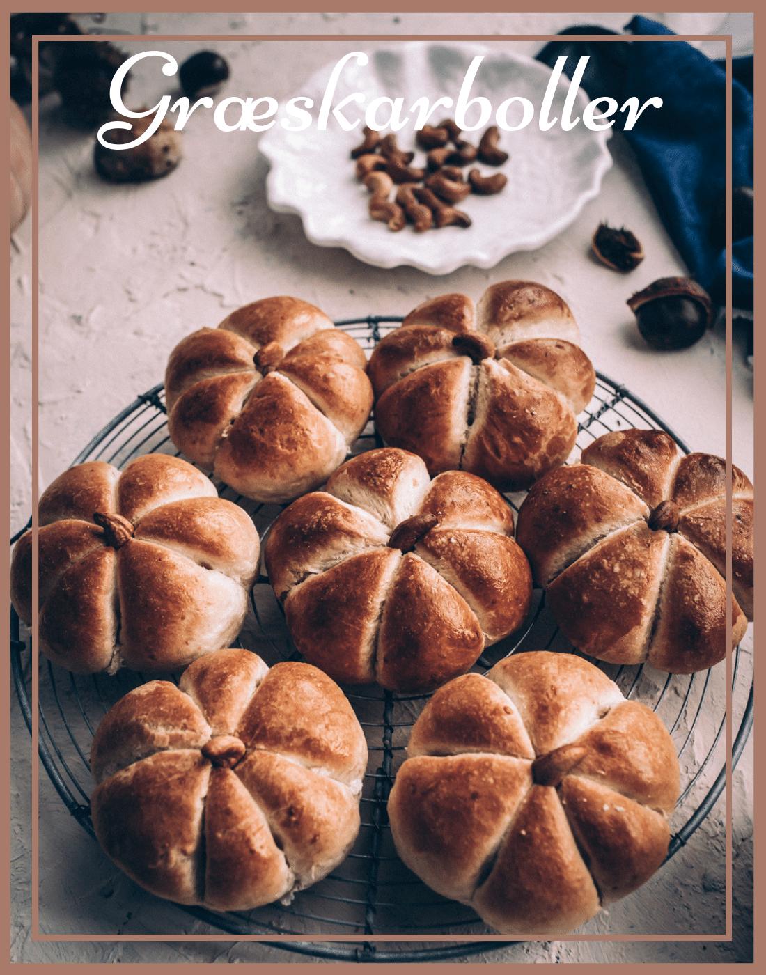græskarboller, græskar brød, mini græskar, morgenboller