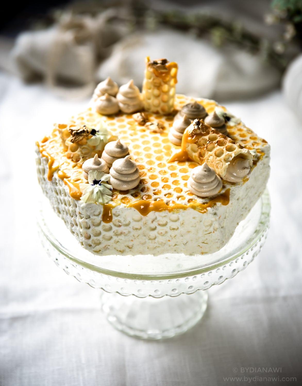 russisk kage, lagkage, honningkage, medovik, dulce de leche