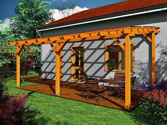 Nemůžete vybrat zastřešení pro svou terasu? Zvolte dřevěnou pergolu ke zdi domu!