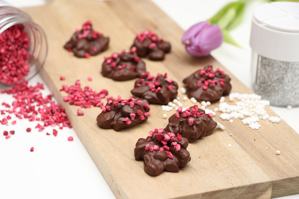 Hjemmelavet chokolade med mandler - nem opskrift