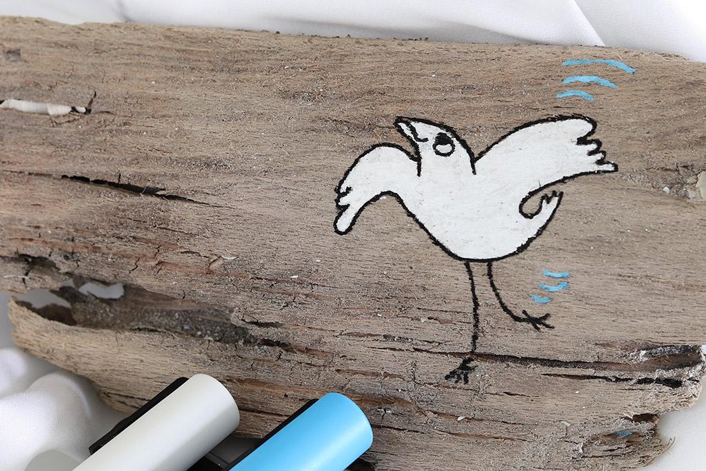 Kreativ med Posca tuscher - lav din egen kunst på drivtømmer