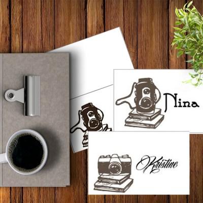 Camera -placecard- bye9design digitalt print - nordic design