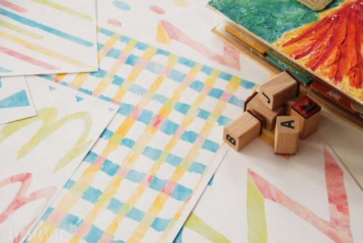 Tutti Frutti serie på 6 design - bye9design - nordic design - scrapping
