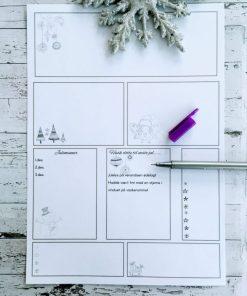 Redigerbare merkelapper til oppbevaring, juleminner og scrapping - bye9design
