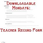 Teacher Record - blank
