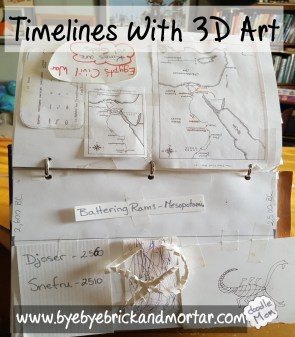 timelines with 3d art