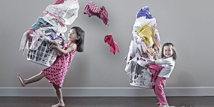 Organisons le lavage du linge en famille
