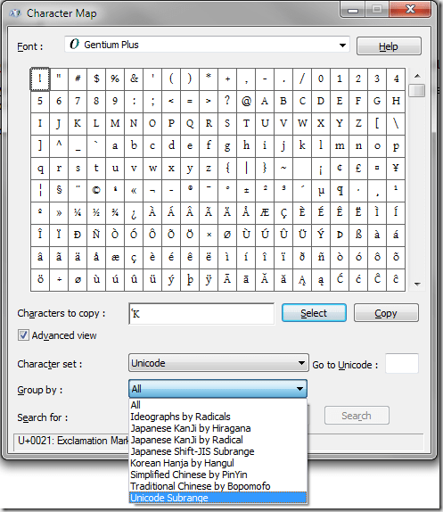 How to Find Every Unicode Greek Character in Microsoft Word