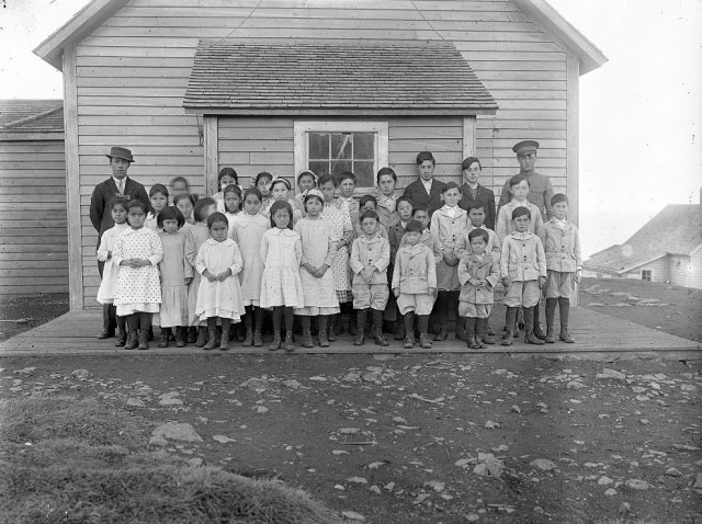 St George School Students And Teachers, 1860s.