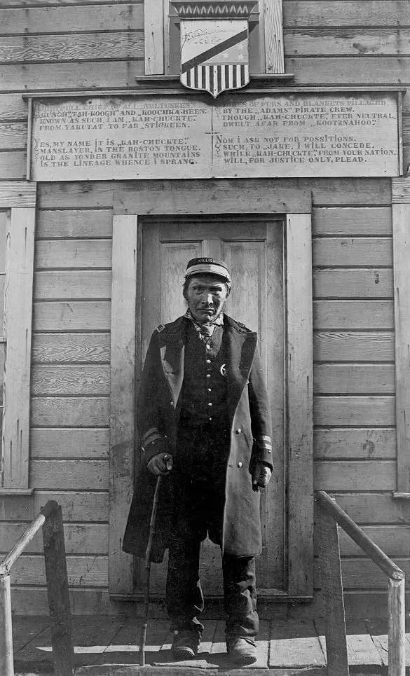 Kah-chuckte, of Killisnoo, Alaska (Chief of Neltusken), 1895.