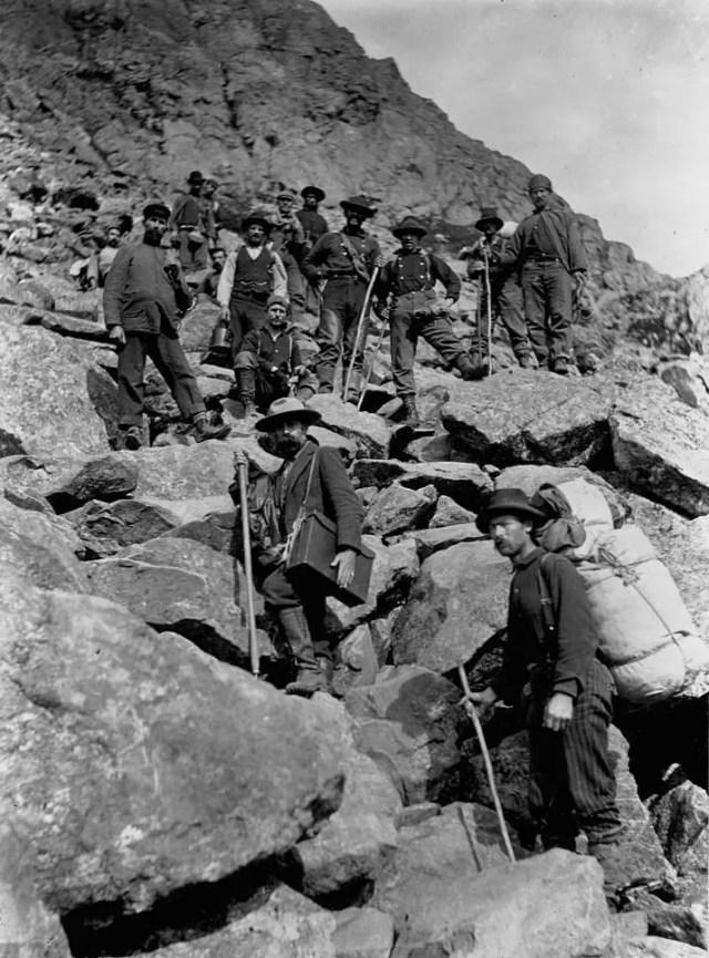 Gold Prospectors Near the Chilkoot Summit, Alaska, 1898.