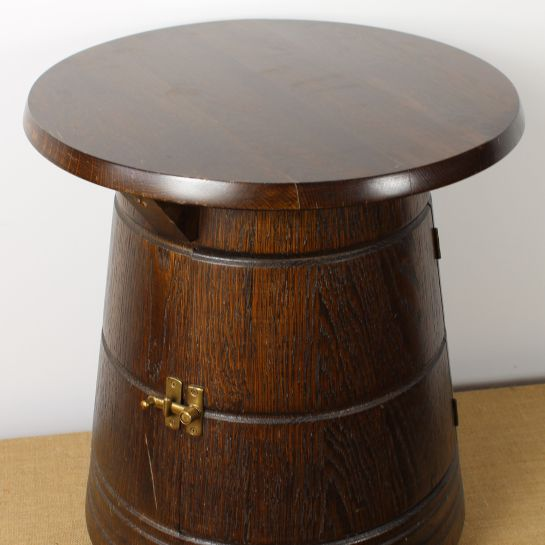 Barrel Style Cupboard Table