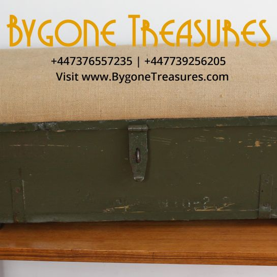 Green Ammo Box Footstool With Storage