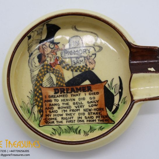 Carlton Ware Motto New York Dreamer In Memory Of Sam Ashtray #1755