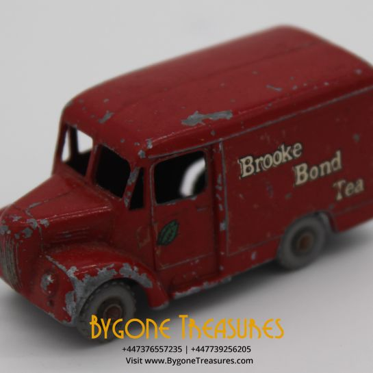 1958 Moko Lesney Matchbox Brooke Bond Tea Trojan Delivery Van Model #47a