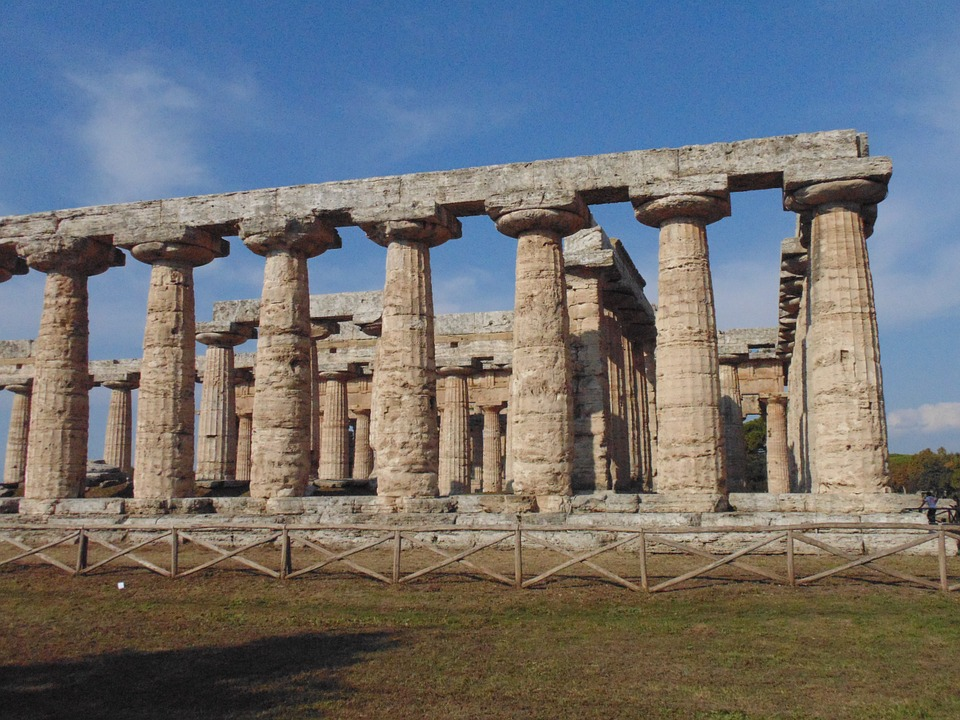 Antiquity Greek Temples Columns Paestum