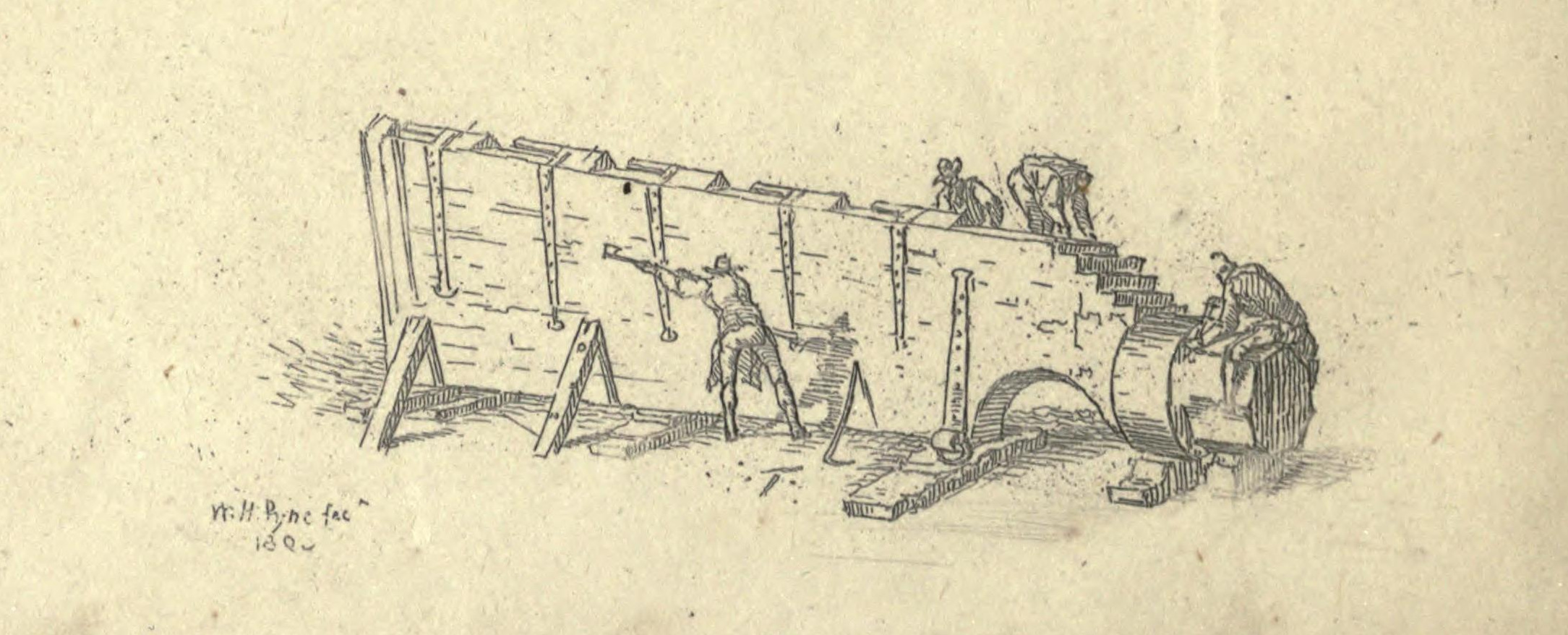 Making A Rudder for a Ship of War. W.H. Pyne 1803